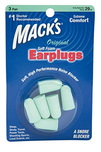 Macks Original Soft Foam Earplugs 3 Pair