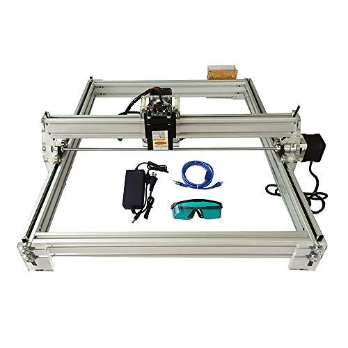 Kacsoo Newest Version DIY CNC Laser Engraver Kits,40x50cm,2 Axis (2500MW) DIY CNC Laser Engraver Kits 12V USB Desktop Laser Engraving Machine Wood Carving Engraving Cutting