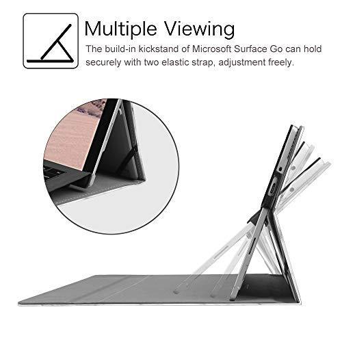 Fintie Hülle für Surface Go 2 2020 / Surface go 2018 10 Zoll Tablet - [Multi-Sichtwinkel] Hochwertige Kunstleder Schutzhülle Tasche Etui Cover Case mit Stylus-Halterung, Marmor Muster