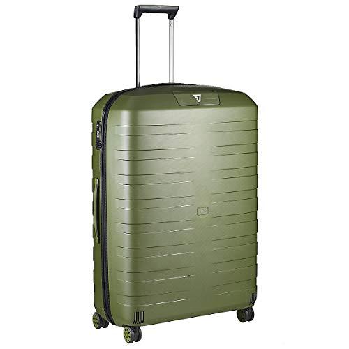 Roncato Box 4.0 Maleta Grande Expansible Negro/Verde Militar, Medida: 80 x 54 x 30/33 cm, Capacidad: 118/130 l, Pesas: 3.80 kg