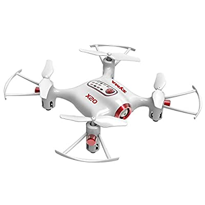 OUKU Cheerwing Syma X20 Pocket Drone 2.4Ghz Remote Control Mini RC Quadcopter with Altitude Hold and One Key Take-off / Landing White