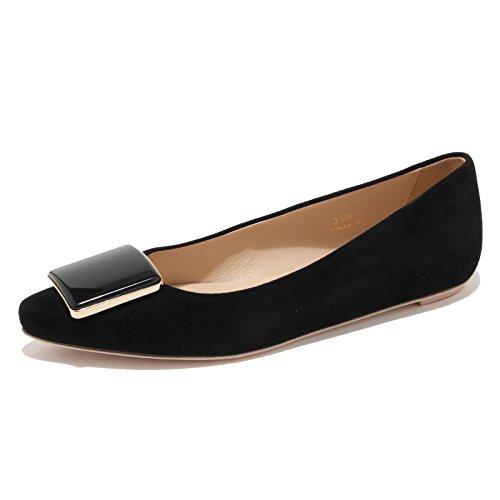 Tod's 94173 Ballerina Cuoio SR PLACCA RIGING Nero Scarpa Donna Shoes Women [35.5]