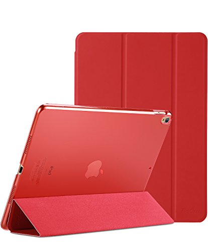 Procase iPad Air (3rd Gen) 10.5' 2019 / iPad Pro 10.5' 2017 Case, Ultra Slim Lightweight Stand Smart Case Shell with Translucent Frosted Back Cover for Apple iPad Air (3rd Gen) 10.5' 2019 –Red