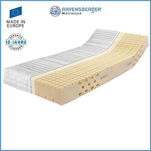 RAVENSBERGER Ergo-MED® 70 | 7-zone HR-MDI-REFERENZ-koudschuimmatras | H2, H3 of H4 | Made in Germany - 10 jaar garantie | Katoenen dubbele bekleding | 80x200 cm tot 140x220 cm