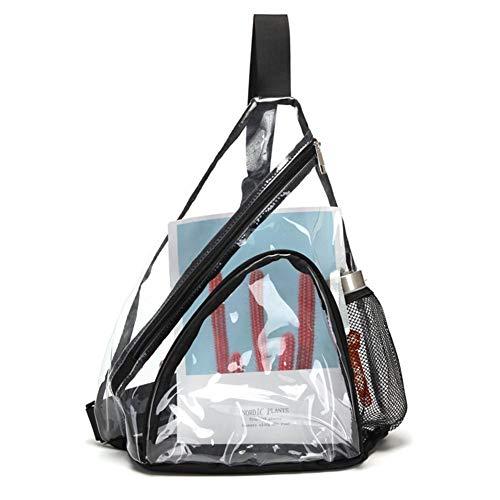 Bolso bandolera, bandolera de PVC transparente, mini mochila impermeable y resistente al...