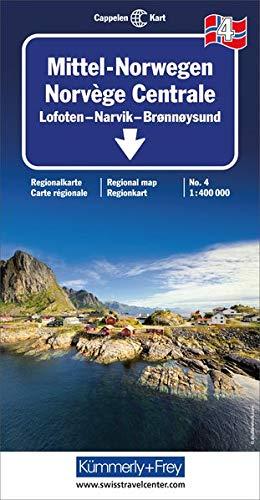 Kümmerly & Frey Karten, Mittel-Norwegen 4. Broennoeysund, Bodoe, Narvik