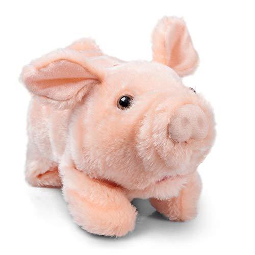 Tobar 28775 Animigos - Peluche Animado de Cerdo, Color Rosa