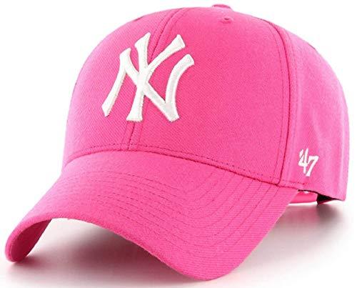 New York Yankees MVP Magenta Pink strukturierte Mütze Kappe Erwachsene Damen Verstellbar