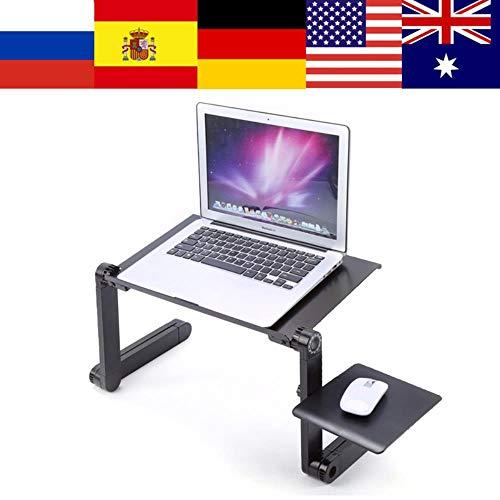 JUECAN Verstelbare ondersteuning draagbare laptop tafel slaapbank lade tafel laptop bureau met muismat