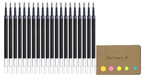 Uni-Ball UMR-85N Refills for Gel Ink Ballpoint Pen, 0.5mm, Blue Black Ink, 20-Pack, Sticky Notes Value Set