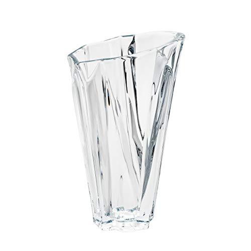 Vaso De Cristal Ecológico Angle 13, 5x17x30cm Bohemia Transparente