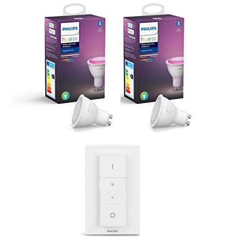 Philips Hue 2 Ampoules LED Connectée White & Color Ambiance GU10 Compatible...