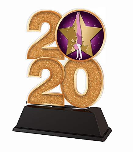 Trophy Monster 2020 - Trofeo de gimnasia (oro, plata o bronce), diseño de estrella de gimnasia, 120 mm (bronce)