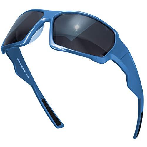 CHEREEKI Polarisierte Sport Sonnenbrillen, UV400 Anti-Reflex Brillen TR90 Gläser für Männer Frauen