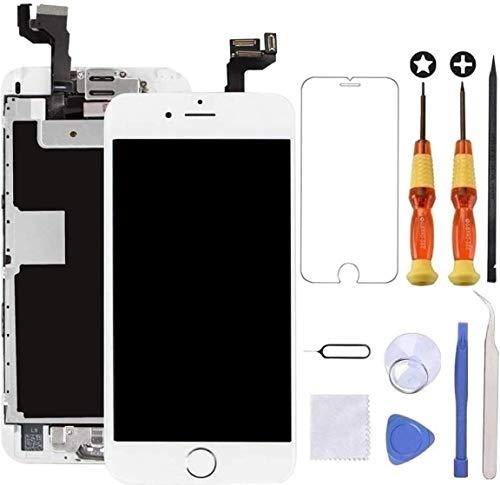 Brinonac Für iPhone 6s Display LCD Touchscreen Kompletter Ersatz Bildschirm Vorinstallierte Frontkamera Hörmuschel Lautsprecher Näherungssensor mit Werkzeug (Weiß)