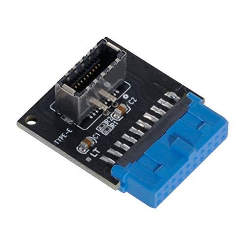 Cablecc USB 3.1 - Enchufe de panel frontal tipo E a USB 3.0 adaptador de extensión macho de 20 pines para placa base