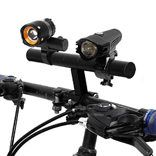 Fahrradlenker Extender Halterung, Fahrradzubehör Taschenlampe Extenderhalterung, Mountainbike-Tachometer, für Fahrrad LED-Licht, Tacho, GPS, Sport Kamera oder Telefon for 31,8 mm -25,4 mm Lenker