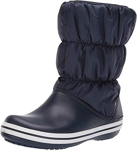 Crocs Damen Winter Puff Boots Schneestiefel, Blau (Navy/White), 37/38 EU