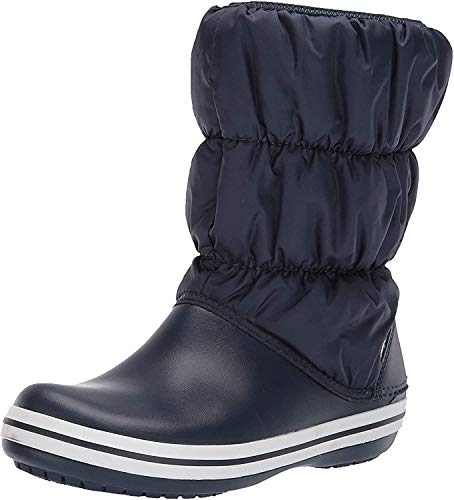 Crocs Damen Winter Puff Boots Schneestiefel, Blau (Navy/White), 41/42 EU