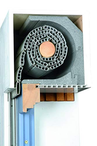 DiHa Rollladenkasten-Isolierung, Rollladenkasten Dämmung ROKA-ASS 3-tlg. eckig, Stärke 28 mm (Verschlußdeckel 175 mm)