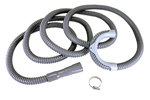 13Ft Washing Machine Drain Hose - Clothes Washer Drain Hose - Universal Replacement - Flexible Washing Machine Discharge Hose with Clamp and Hanger Bracket