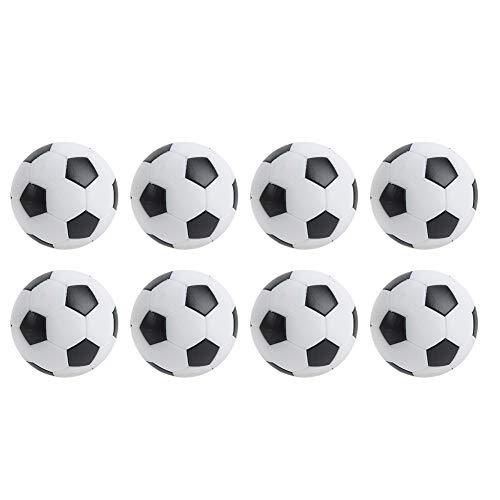 Pbzydu Mini balones de fútbol de Mesa, balones de fútbol de Mesa, Sala de Deportes de Ocio Mini Negro de 8 Piezas para fanáticos del fútbol