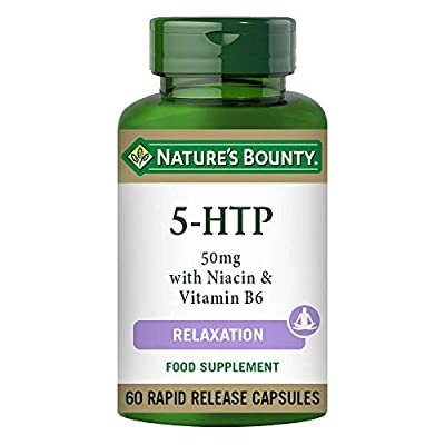 Nature's Bounty 5-HTP 50 mg with Niacin and Vitamin B6 Capsules - Pack of 60