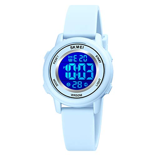 YxiYxi Kids Digital Sport Waterproof Watch for Girls Boys Kid Sports Outdoor 7 Colorful LED Electrical Watches with Luminous Alarm Stopwatch Child Wristwatch Ages 5-12