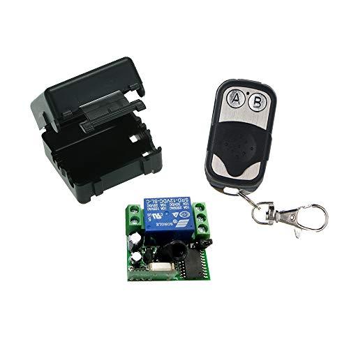OWSOO Módulo de Receptor de Interruptor de Control Remoto Inalámbrico Universal 433Mhz DC 12V 1CH y 1PCS RF Transmisore Mando a Distancia 1527