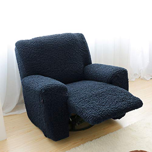 Stretch Recliner Slipcover, High Elastic Sofa Cover Jacquard Sofa Slipcover for Reclining Sofa Furniture Protector for 1 2 3 Cushion Couch -Navy Blue-Sofa 210-240cm