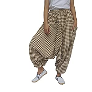 ChiangmaiThaiShop - Pantalones de harén de yoga 100% algodón, estilo boho Aladin | DeHippies.com