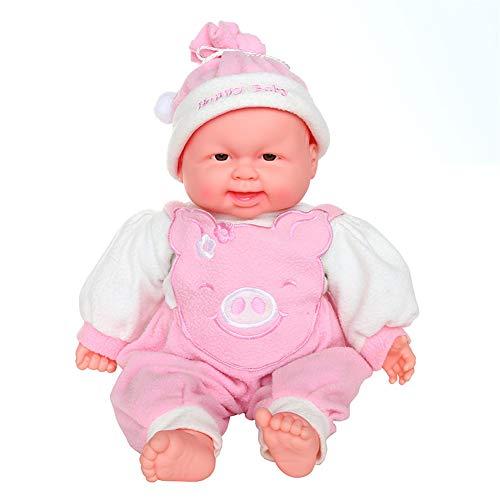Renacido preciosa de la niña y muchacho muñecas de silicona suave vinilo, muñeca de moda Interactivo de la muñeca con el Real expresiones o movimientos mejores juguetes adecuados para 4-6 años,Rosado