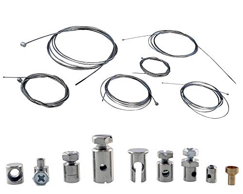2EXTREME Reparaturset riesig Bowdenzug, Gaszug, Schaltzug, Kupplungszug kompatibel für Roller, Mofa, Fahrrad