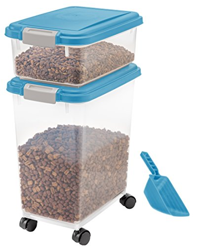 3- Piece Airtight Pet Food Storage Container Combo, Blue Moon