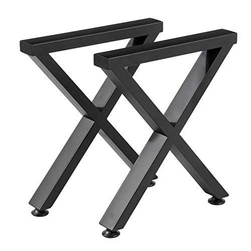 2X Industrial Steel Table Legs Black Metal Iron Table Desk Leg Table And Sofa Furniture Handcrafts with Non-Slip Mat