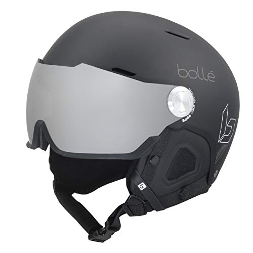 bollé Might Visor Casques de Ski Adulte Unisexe 55-59 cm, Black Matte, Medium