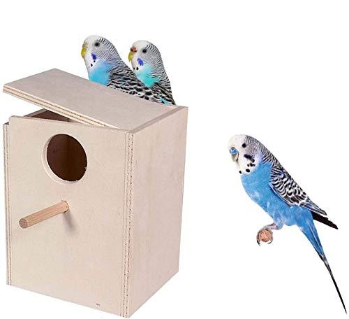 Motisi Zootecnici Nido in Legno per cocorite pappagallini pappagalli - Misure cm.12x12x17 H