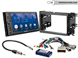 Sony XAV-AX1000 Double Din Radio Install Kit With Apple CarPlay, Sirius XM Ready, NO CD Player Fits 2007-2010 Edge (With factory amplified sound)