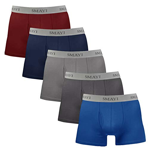5Mayi Mens Underwear Boxers Shorts Cotton Underwear Trunks 3D Pouch Men Boxers Multi Pack S M L XL XXL