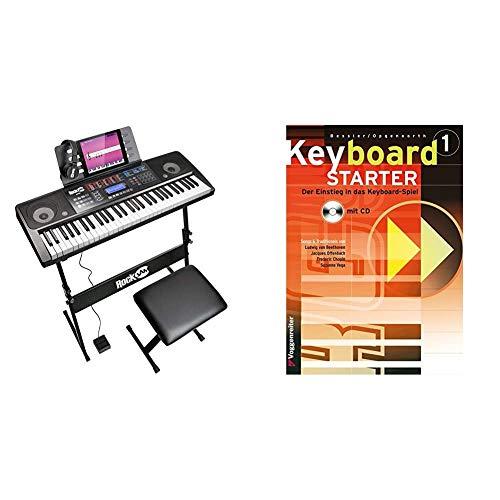 RockJam 61 Tastatur Klaviersatz 61 Schlüssel-Digital-Piano Keyboardbank Keyboardständer & Keyboard-Starter. Mehrbändiger Keyboardkurs für den Selbstunterricht und für den Einsatz in Musikschulen