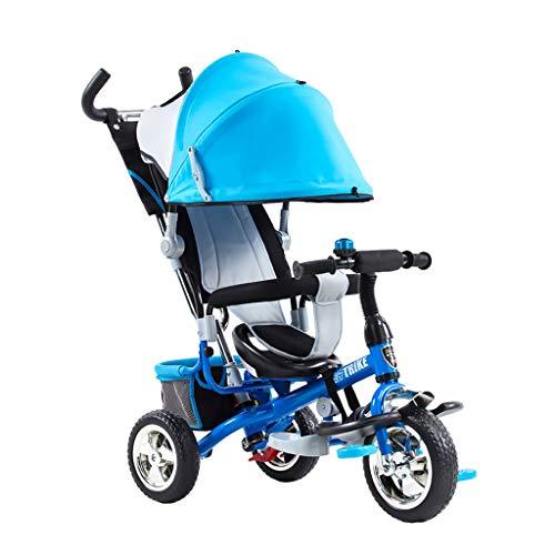 xy Triciclos Triciclo For Niños Al Aire Libre con Campanas For Toldos, Bicicletas For Bebés, Carro 2 En 1, Adecuado For Niños De 1-3-5 Años, Juguetes For Montar, 2 Colores Se Pueden Usar como Regalos