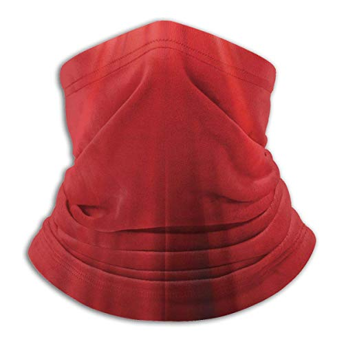 Bklzzjc Path of Light Red Headwear Neck Guêtre Warmer Winter Ski Tube Scarf Mask Fleece Face Cover Windproof for Men Women Personalized