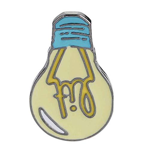 Yinew Cartoon Glühbirne Brosche Pin-Taste Legierung Emaille Gelb Täglich liefert Brosche Jeansjacke Rucksack Shirt Pin Badge Schmuck