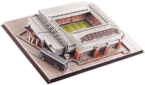WDX- 3D Puzzle Fußballstadion Modell, 3D Fußball Puzzle Barcelona Camp NOU Stadium Modell Gebäude Kit für Kinder Erwachsene trainieren (Size : Standard h)