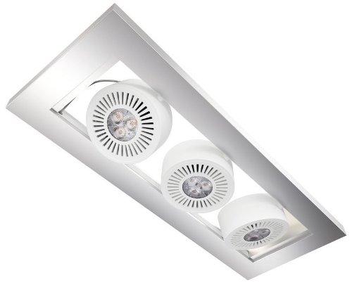 Osram 73237 Tresol Trio Ceiling Luminaires LED Encastrés au Plafond Blanc 3 x 4,5 W 230 V