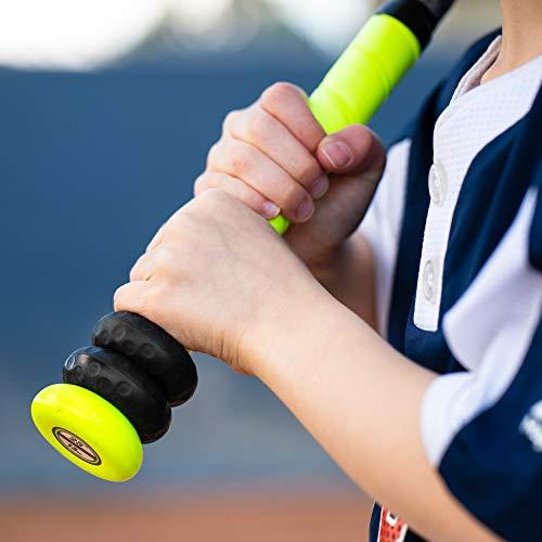 Grippi Ring Bat Grip Choke up Rings 2-Pack for Youth Baseball, Softball and Tee Ball (Black)
