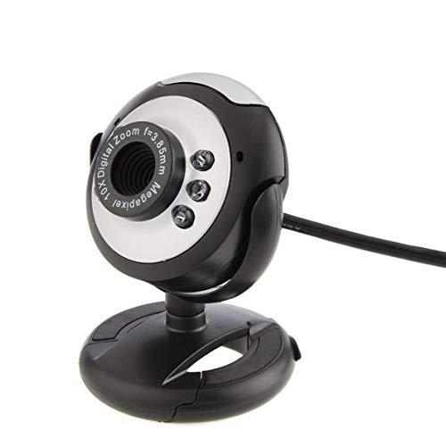 nbvmngjhjlkjlUK Cámara Web, cámara Web Cámara de Video Digital HD Cámara práctica Cámara Web con micrófono Computadora con Clip PC portátil Cámara Web (Negro)