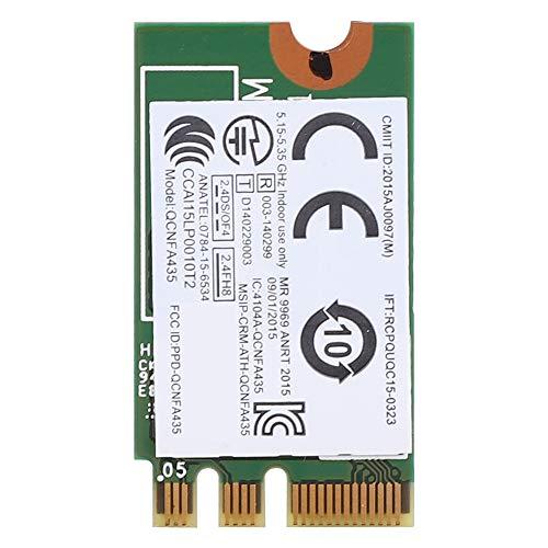 HechoVinen Tarjeta de red 2.4G+5G Tarjeta de red inalámbrica de doble banda QCNFA435 NGFF/M.2 Interfaz para Lenovo Ideapad Wlan Card Wifi Network Card AC Protocol 433M + 4.0 para Bluetooth