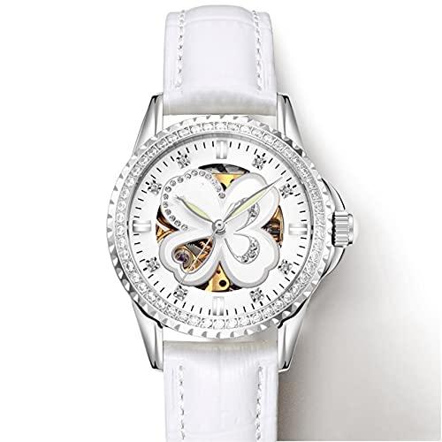 MAID Guapo Reloj Elegante Brillante de Damas, Relojes mecánicos automáticos Relojes de Rosa Elegante Impermeable Reloj de Negocios (Color : STYLE5, Size : A)