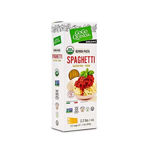 GoGo Quinoa Organic Spaghetti, Gluten Free Pasta. Vegan, Non GMO & Corn Free 2lbs